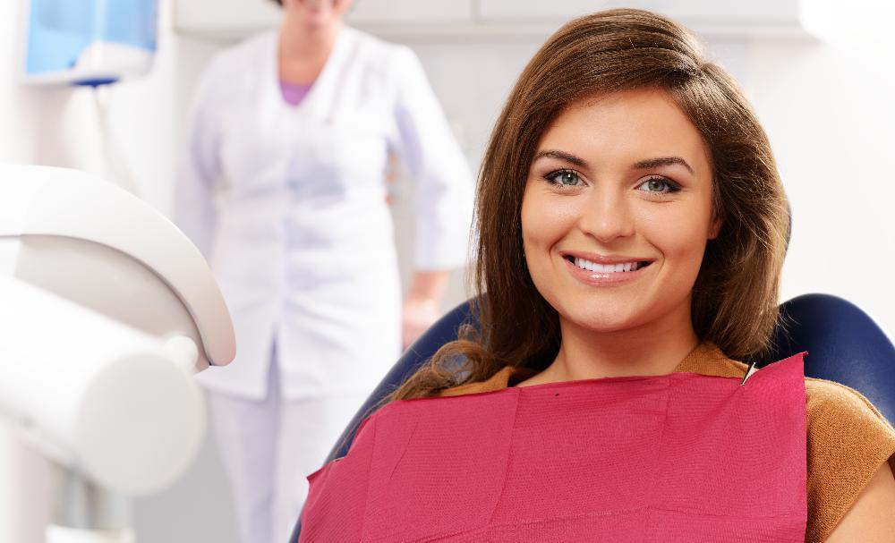 woman during sedation dentistry exam in annapolis md