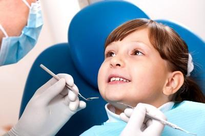 Small girl in dental chair | Dentist Annapolis MD